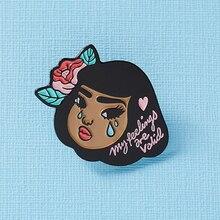 Lola Enamel Pin My Feelings Are Valid Crybaby Badge,สุขภาพเข็มกลัด