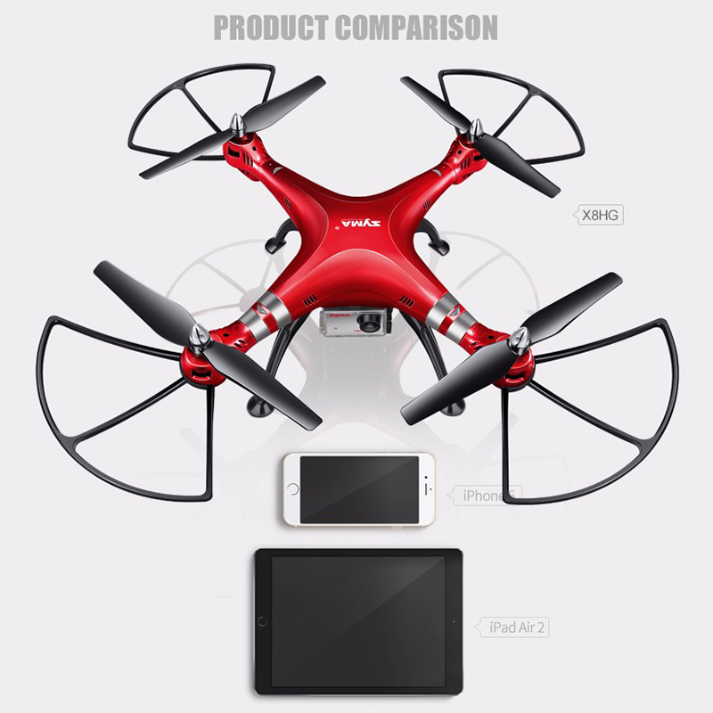 X8HG 2.4G 4CH RC Helicoptero Drones UAV Profissional Camera de 8MP HD Quadcopter (SYMA X8C/X8W/X8G Upgrade) syma x8g quadcopter spare parts x8g 22 8mp hd camera or protective frame for syma x8c x8w x8g