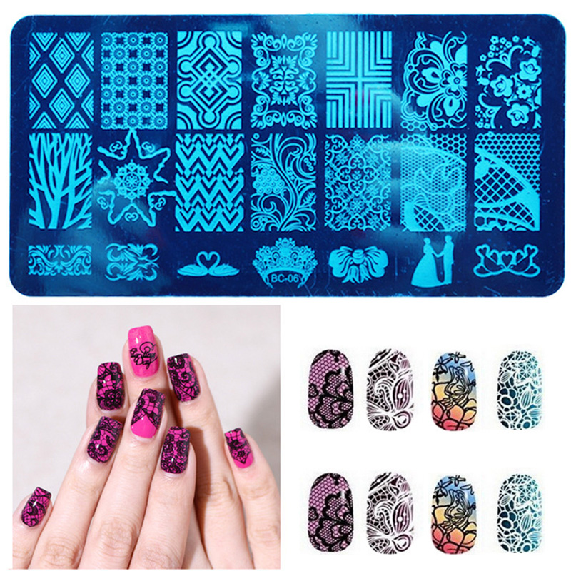 10 New Design DIY Nail Art Image Stamp Stamping Plates Manicure Template Tool #M02031 4pcs christmas halloween owl 4 design stainless steel nail plates nail art image konad print stamp stamping manicure template