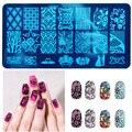 10 Nuevo Diseño DIY Nail Art Imagen Placas Estampación Sello Plantilla Manicura Herramienta # M02031