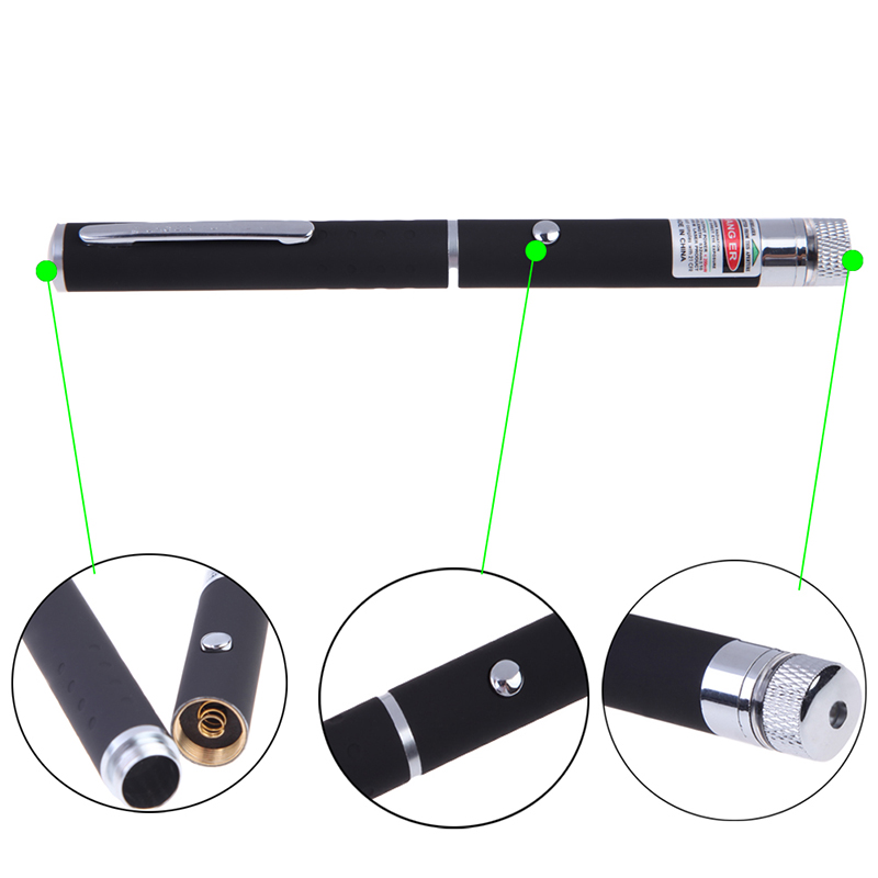 New Arrivals Pocket 5mW Green LED Laser Lazer Pointer Pen Outdoor Sports Self Defense Defensa Personal Tactical Survival Tools