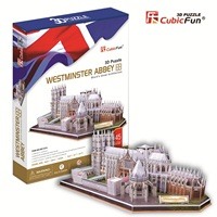 Candice guo CubicFun 3D puzzle paper building model assemble game MC121h great Architecture Westminster Abbey church cathedral