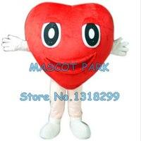 Красное сердце костюм талисмана пользовательские мультипликационный персонаж cosply карнавальный костюм 3380