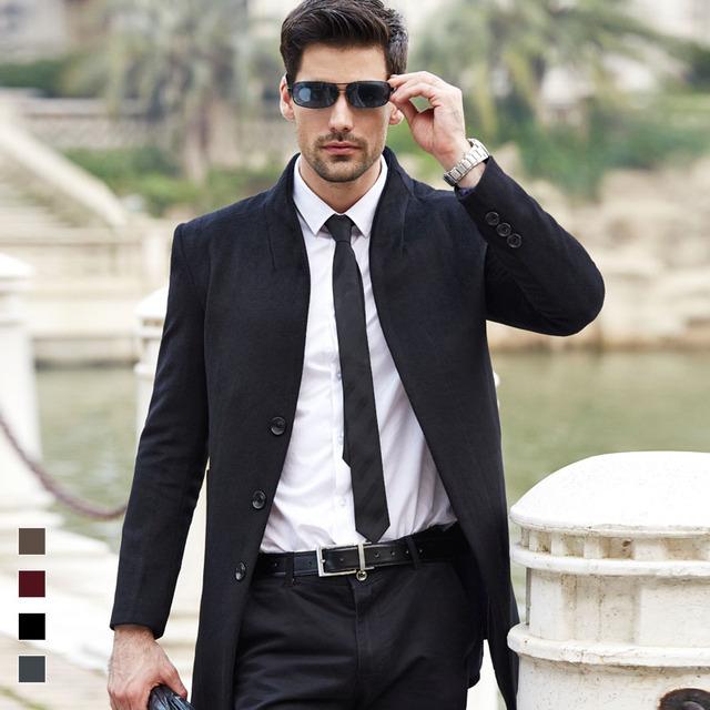 NOVA marca Homem Jaqueta Casaco de Lã dos homens Outono Primavera Sobretudo Outwear Gola de Inverno Por Grosso Ea Retalho