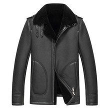 2017 Men's Genuine Leather Jacket For Men Real Matte Goat Skin Sheepskin Fashion Brand Black Male Coat Plus Size 4XL
