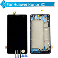 Para huawei ascend g740 honor 3c lcd screen display toque digitador assembléia com frame + ferramentas