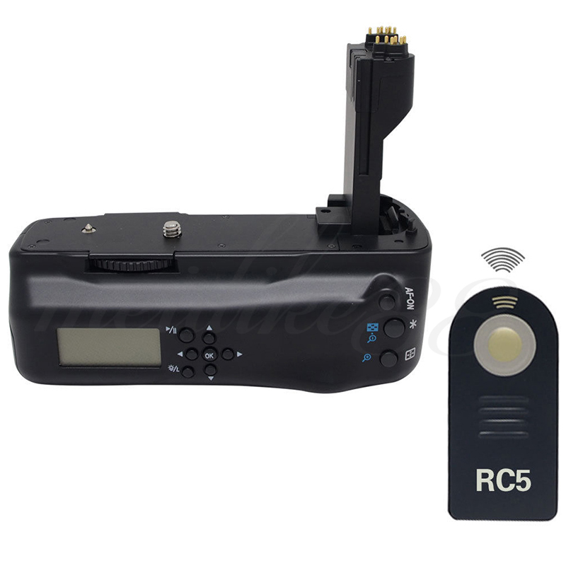 Meike MK-5DII LCD Vertical Wireless Remote Control Battery Grip for Canon EOS 5D Mark II BG-E6 + IR RC5X1 vertical battery grip holder w ir remote control for canon eos 7d2 7d mark ii 2 as bg e16
