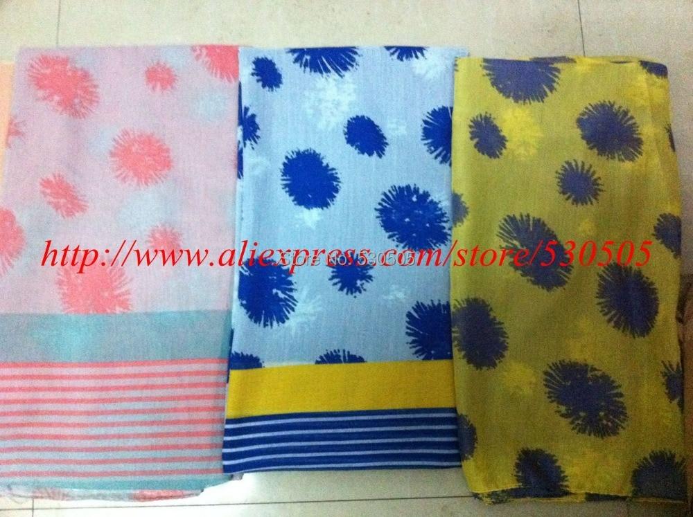 ᐅItalia hilo flor impresión primavera bufanda de gran tamaño ...
