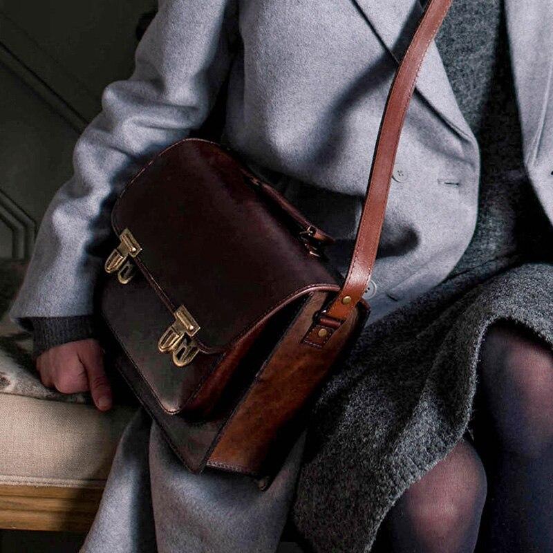 Echtem Laptop Retro Aktentasche Weibliche Tasche Handtaschen Rindsleder Frauen 1 Hansomfy Kreuz Schloss Handgemachte Diagonal Leder Schulter Taschen dYqwPTP