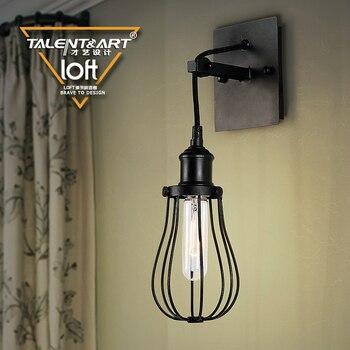2016 hot sale American retro creative industrial wind corridor lamp bedside  wall light balcony stairs bedroom iron lighting