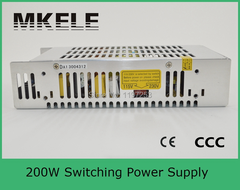 ФОТО high efficiency 200w CE approved professional manufactuer S-201-15 13A single output dc regulated switching power supply 15v