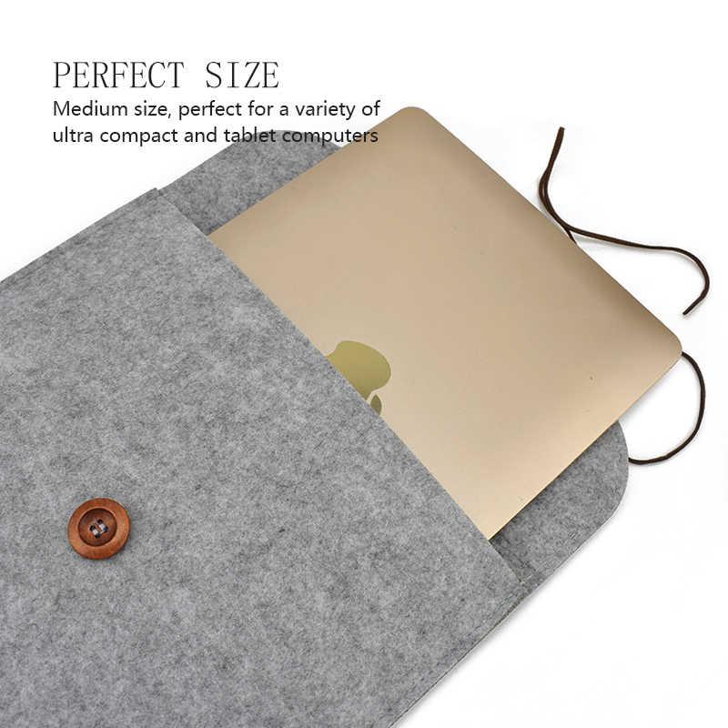 Wol Merasa Laptop Case Cover untuk Macbook Udara Pro Retina 11 13 15 Tas Laptop Notebook Mac Tas dell Samsung Sony