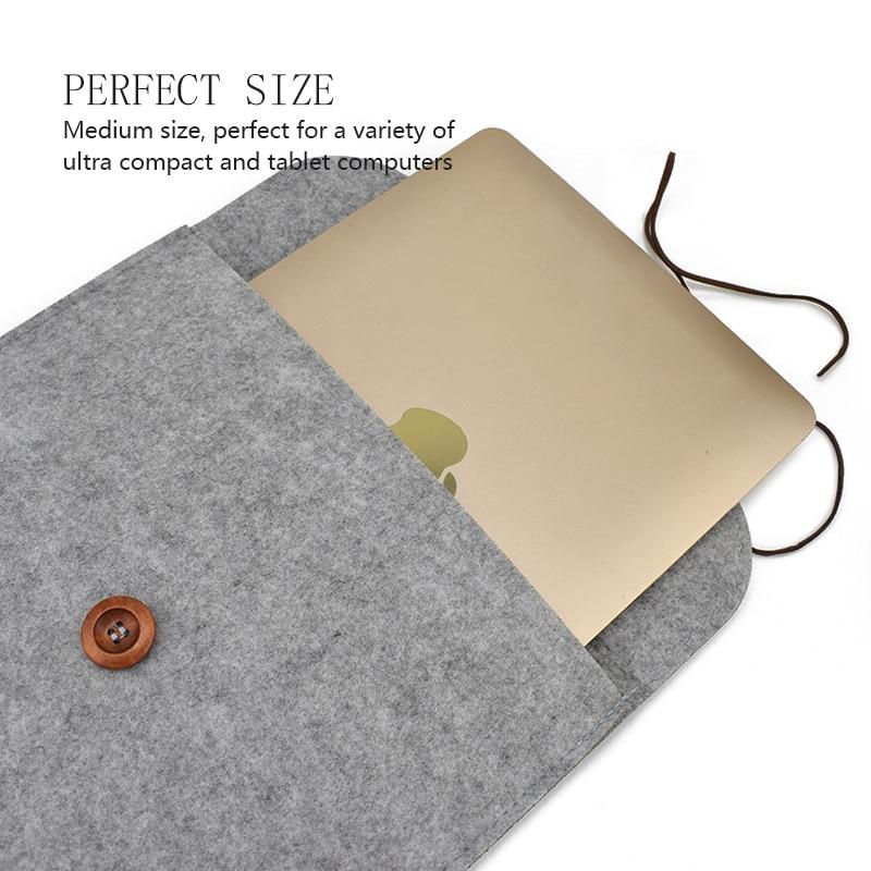 Wool Felt ноутбук қаптамасы Macbook үшін Air Pro - Ноутбуктердің аксессуарлары - фото 4