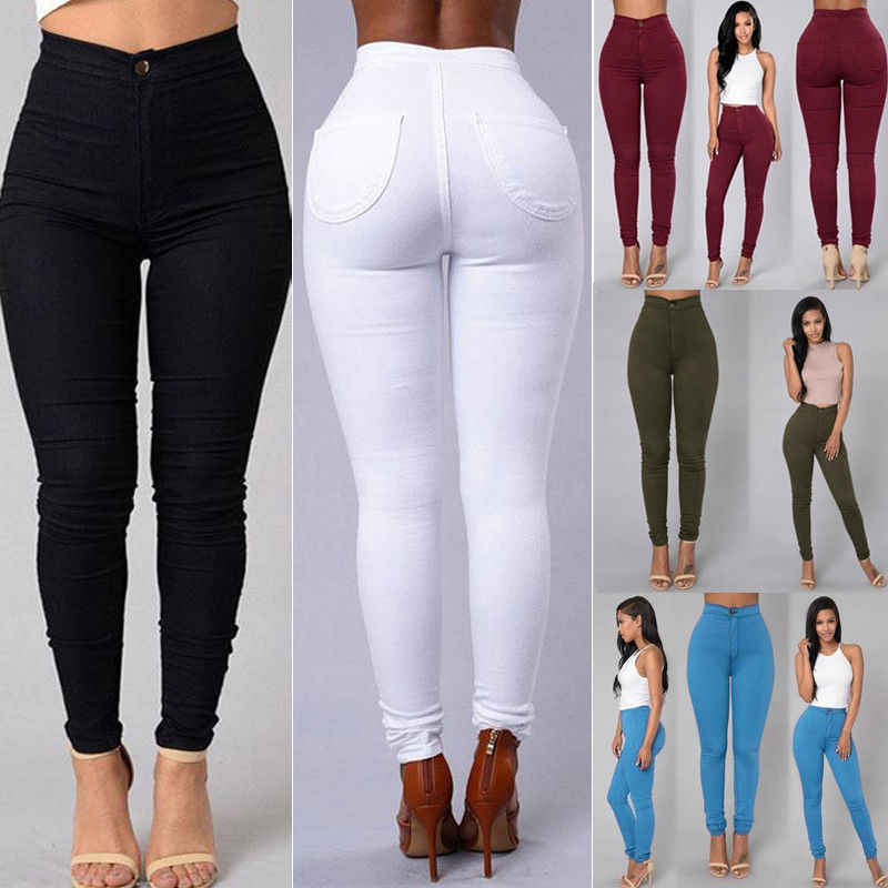 2b15125b86 Detail Feedback Questions about 2018 Women Girls Bodycon Denim Bib Hole  Pants Overalls High Waist Slim Trousers Jumpsuit Skinny Solid Stretch  Pencil Pants ...