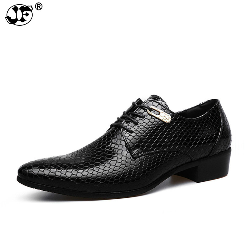 Snake Leather Men Oxford Shoes Lace Up Casual Business Men Pointed Shoes Brand Men Wedding Men Dress Boat Shoes741 Save 50-70% Men's Shoes