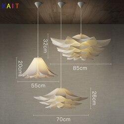 Nowoczesne lampy wiszące Lotus lampa wisząca Art na oświetlenie do sypialni lampy wiszące Origami