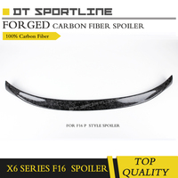 100% Real forged carbon fiber spoiler for BM W X6 series F16 F15 spoiler wing glossy black forged rear truck forged spoiler