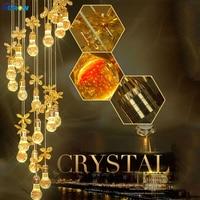 SGROW Estilo Moderno Lustres De Cristal para Sala de estar Quarto Corredor Escadas Hanging Lamp LED Art Deco Luminárias de Iluminação Interior
