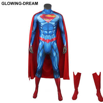 Glowing Dream Newest Superman Cosplay Costume For Halloween 3D Print Superman Costume For Man Man of Steel Costume - DISCOUNT ITEM  9% OFF All Category