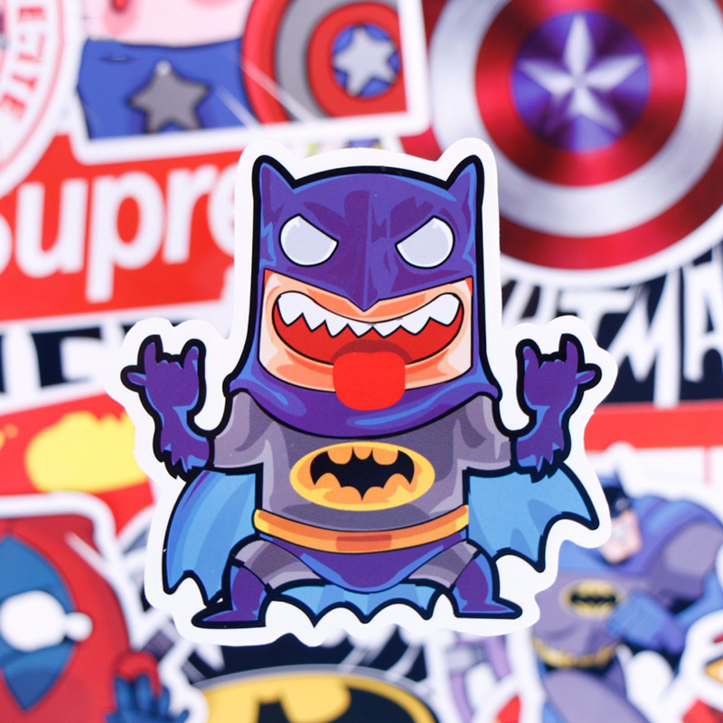 Super Hero Cartoon Style Mix Stickers 50pcs/set For Kids Skateboard Laptop Luggage Motorcycle Toy Waterproof DIY Sticker
