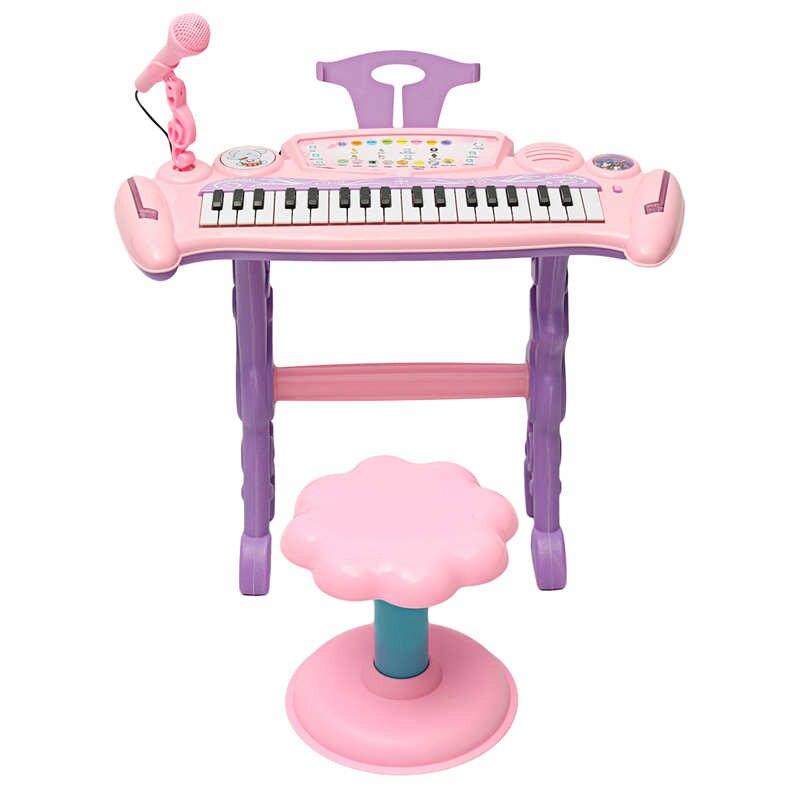 JIMITU enfants clavier électronique Piano orgue jouet ensemble rose 37 touches Microphone musique jouer pour enfants enfants jouet éducatif cadeau