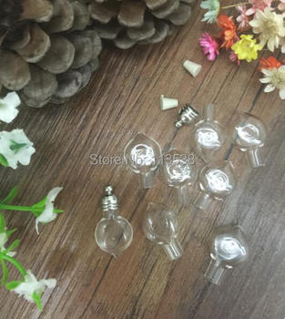 300pcs/lot heart glass vial pendant, clear glass jewelry finding glass bottle Name on Rice Heart Pendant para perfume