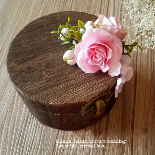 personalized wedding wooden ring bearer box garden wedding ring box mariage party jewelry box - Wedding Ring Bearer