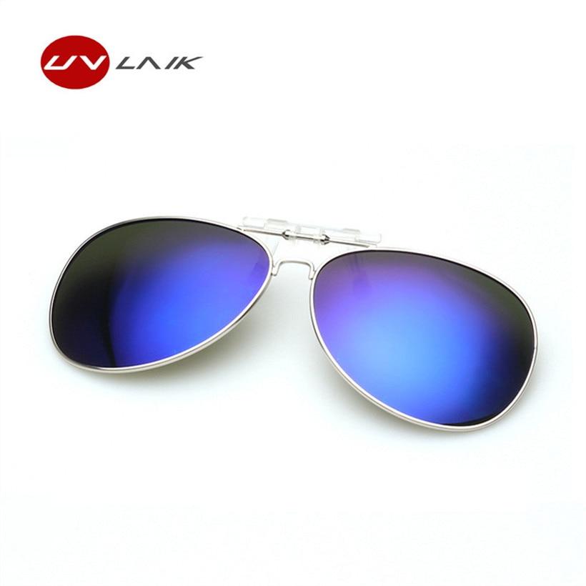 Retro férfi női polarizált klip napszemüvegen Flip Up szemüveg éjszaka látás Vezető szemüveg napszemüveg klip Myopia szemüveg
