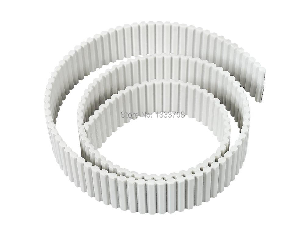 High quality strong double teeth belt/ 10mm width AT20(20mm pitch) steel core timing belt/metal core belt 15mm width t5 steel core endless timing belt closed loop pu belt