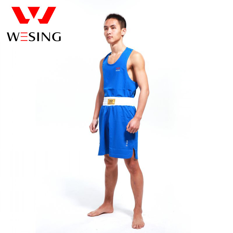 WESING boxing Jerseys for competetion blue and red boxing suit boxing clothes