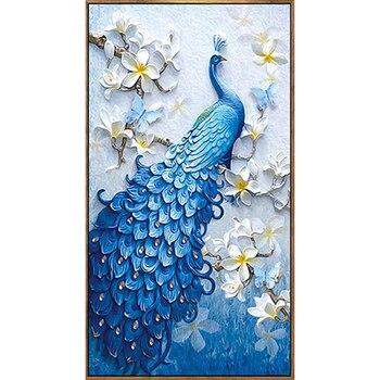 30*40cm ejercicio completo redondo bordado de diamantes 5D DIY pintura de pavo real con diamantes de punto de cruz decoración del hogar regalos únicos