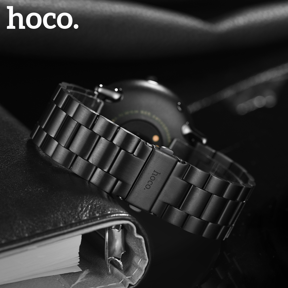 Original HOCO 316L Staninless Steel Watch Band for For Xiaomi Huami AMAZFIT Sports Smart Band Strap Metal Bracelet With Tool in Watchbands from Watches