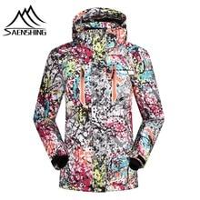 super sale!2016 ski jacket women winter snow waterproof windproof snowboard down coat graffiti print female jackets girl clothes