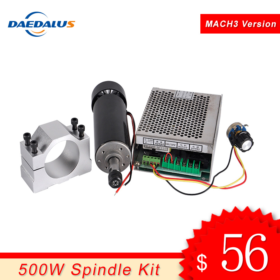 Spindle 500W Air Cooled Spindle ER11 Motor CNC Router Tools 110V 220V Mach3 Switching Power Supply