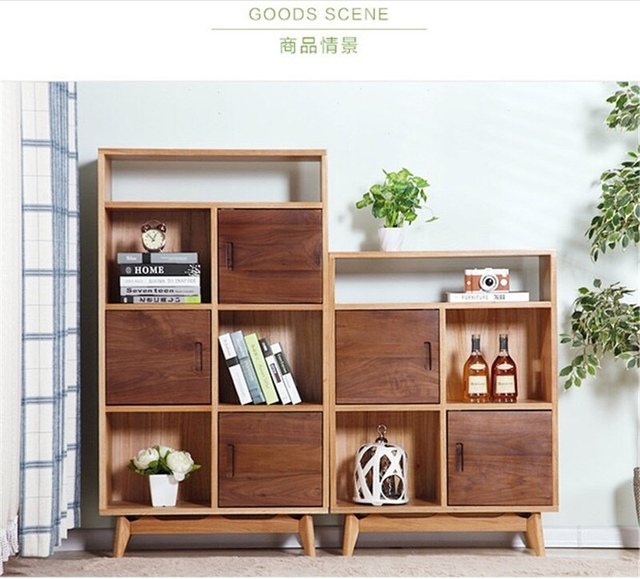 Bookcases Living Room Furniture Home Oak Solid Wood Minimalist Modern Bookshelf Cabinet Display Book Stand