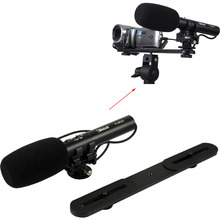 Professional DC/DV Stereo Microphone MIC with 3.5mm Audio Plug + Camera Bracket Holder for Digital SLR Camera & Video Camcorder