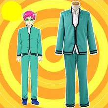 Amami Saiki Kusuo no sai-nan Saiki Kusuo Cosplay Costume Full Set School uniforms for boys Men Jackets Pants Top wig Cosplay(China)