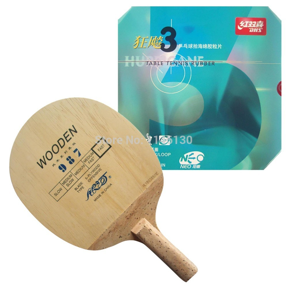ФОТО Pro Table Tennis PingPong Combo Racket: Galaxy YINHE 987 (Japanese Penhold) with DHS NEO Hurricane3 2015 Factory Direct Selling