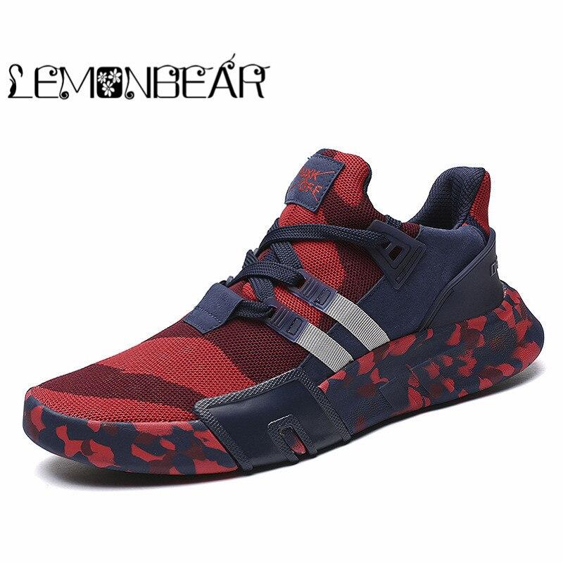 Vulcanize Sapatos Homens Primavera Outono À Prova de Choque dos homens Casuais Tênis de Lona Lace-up Alto Estilo Cores de Camuflagem Homem Rasa sapatos