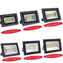 Waterproof LED Flood Light 200W 150W 100W 60W 30W 15W Reflector Floodlight Spotlight Street Outdoor Wall Lamp Garden Projectors