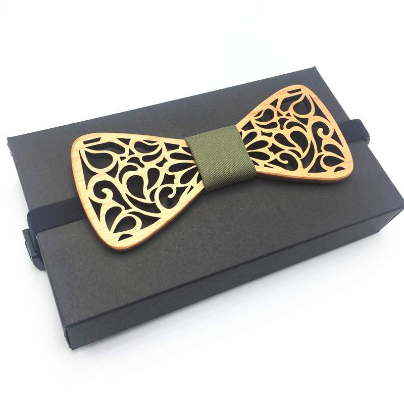2018 hot Men Wood Bow Tie Marry Wedding Party Men's Boy's Butterfly Wooden Shirt Bow Tie