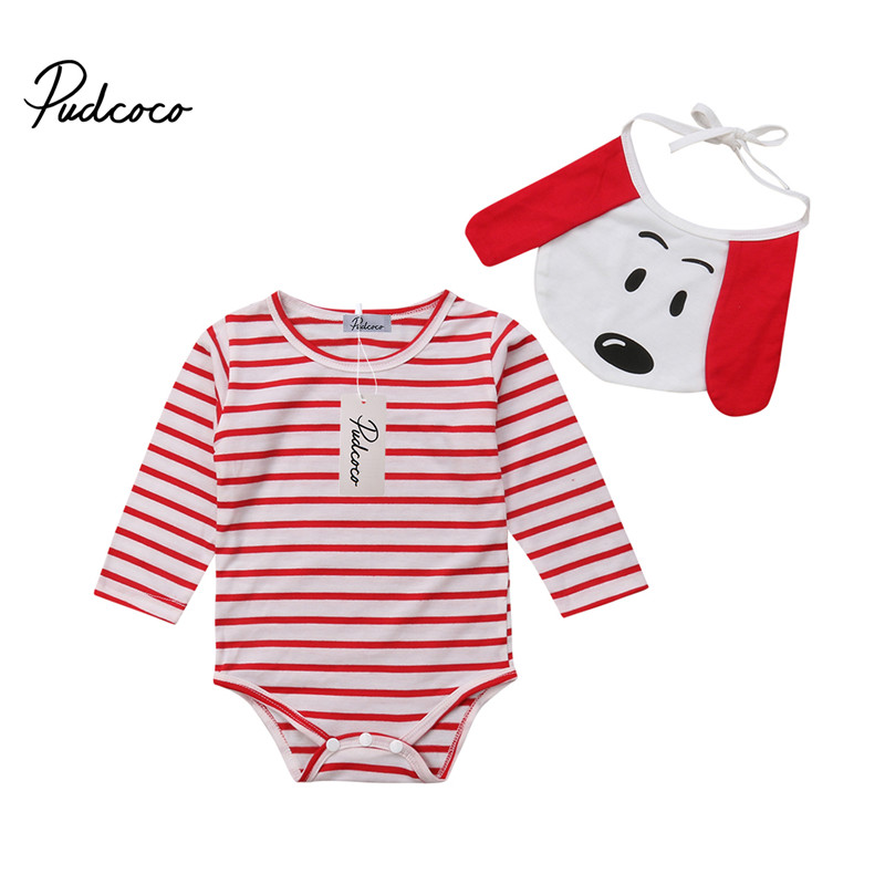 Baby Rompers Set 2pcs New Born Baby Clothes Suit B