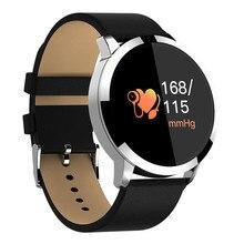 0,95 дюйма, OLED цвет экран приборы для измерения артериального давления мониторы сердечного ритма Смарт часы Android iOS Спорт умный браслет