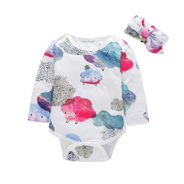 65346aefcf4 0-18M Newborn Baby Girl Rompers Autumn Baby Clothes Cotton Summer Jumpsuit  Infant Playsuit Colorful Rainbow Baby Romper Spring