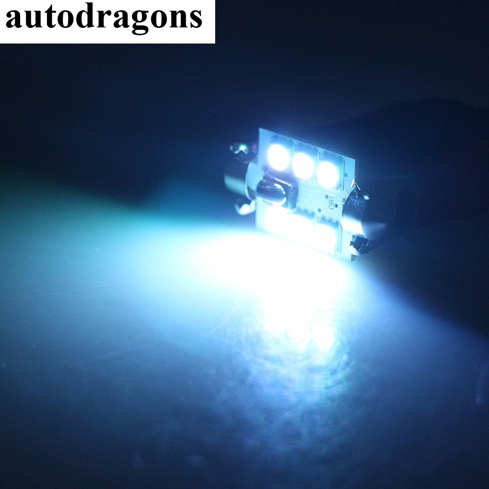 autodragons 2pcs Control Car RGB LED Dome head <font><b>hood</b></font> Light DC 12V SMD 5050 Lamp Festoon Bulb 31 36 39 41mm auto lamp car styling image