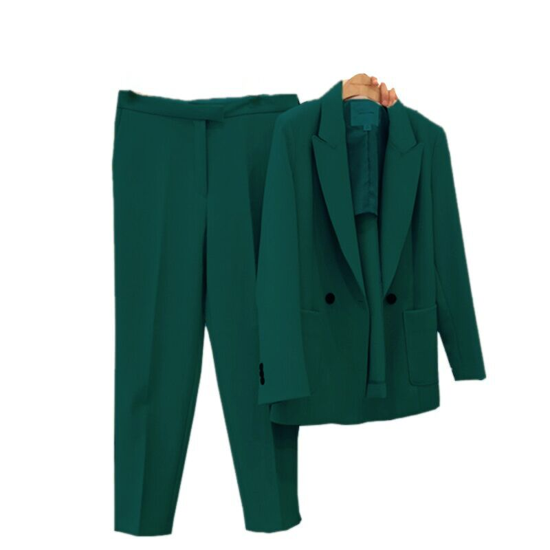 Pants Suits Elegant Women 2019 New Style Fashion Temperament Slim Office Ladies Uniform Two-piece Suit