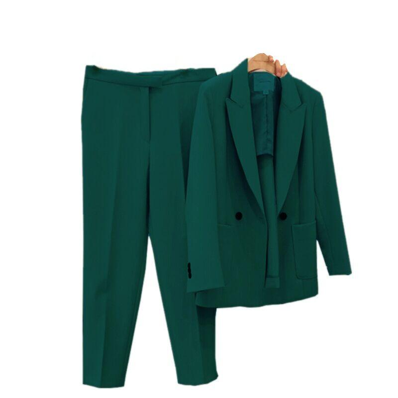 Pants Suits Elegant Women 2019 New Style Fashion Temperament Slim Office Ladies Uniform Two-piece Suit