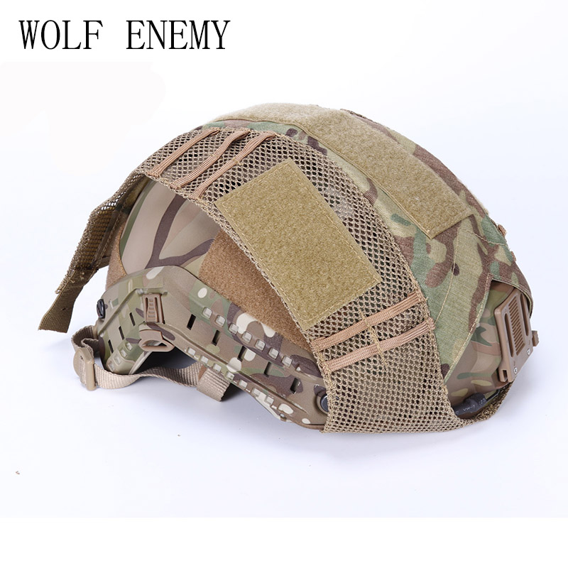 WOLF ENEMY Tactical Military Helmet Covers Camouflage Cover Airsoft Paintball Shooting Helmet Accessory for FAST MH/PJ Helmet