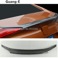 Car styling carbon fibre Rear tail Spoiler side triangle wing WINDOW bezel trim For Honda civic 10th sedan 2016 2017 2018