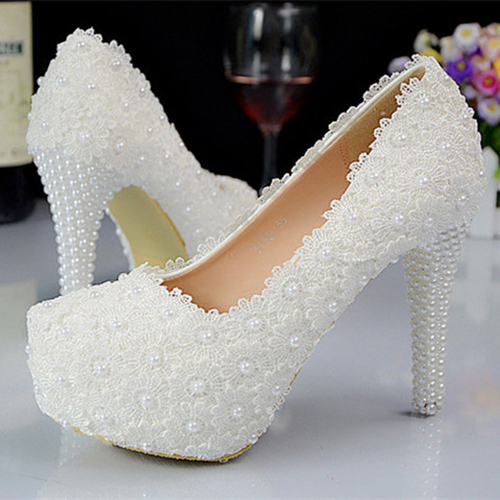 white wedding shoes women pumps party dance sexy high heeled shoes